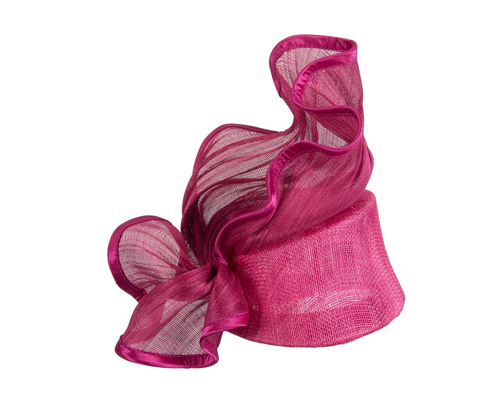 Fuchsia racing fascinator for Melbourne Cup races buy online in Aus