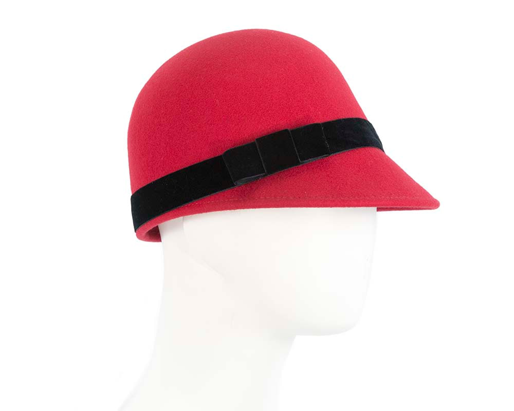 Red beret hat by Cupids Millinery Melbourne