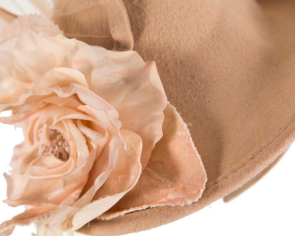 Beige winter fashion fascinator hat for races buy online in Australia F552BE