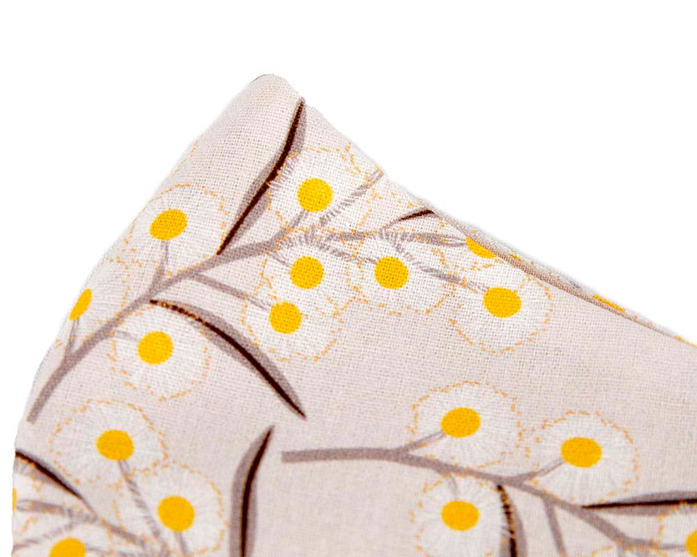 Comfortable re-usable cotton face mask with flowers