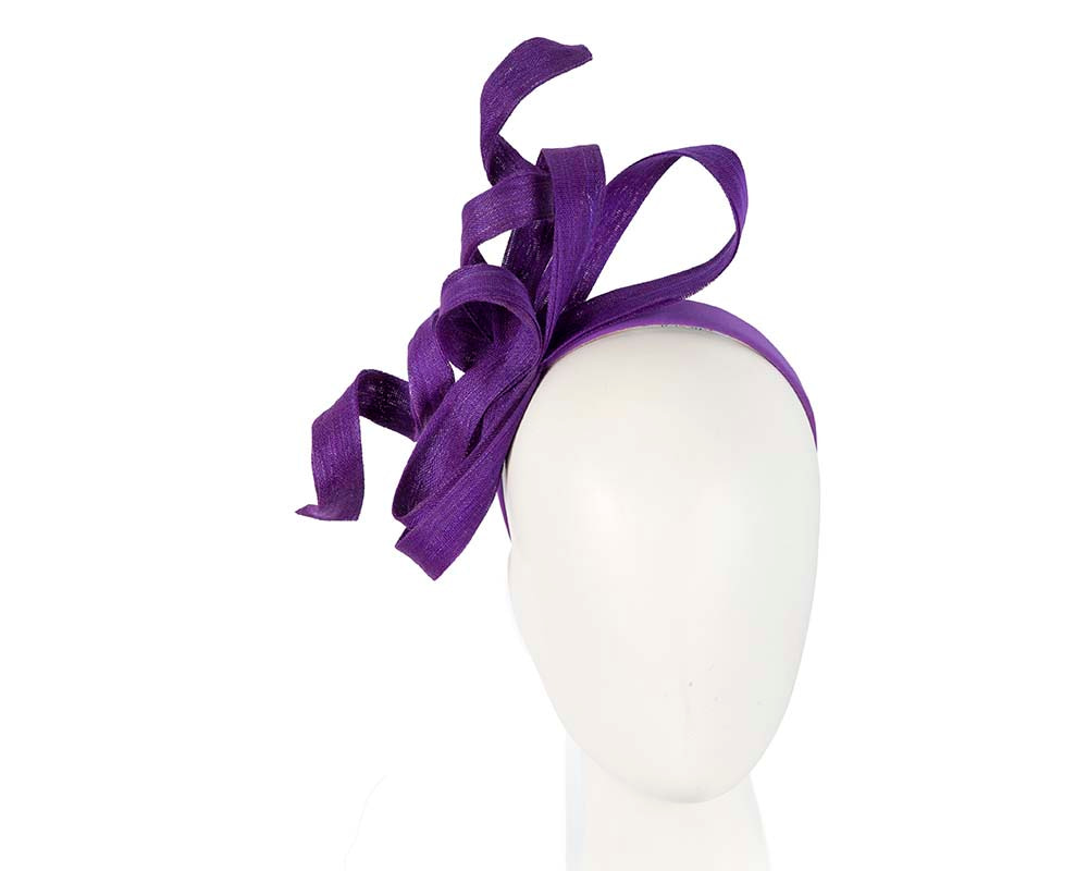 Exclusive purple fascinator by Fillies Collection