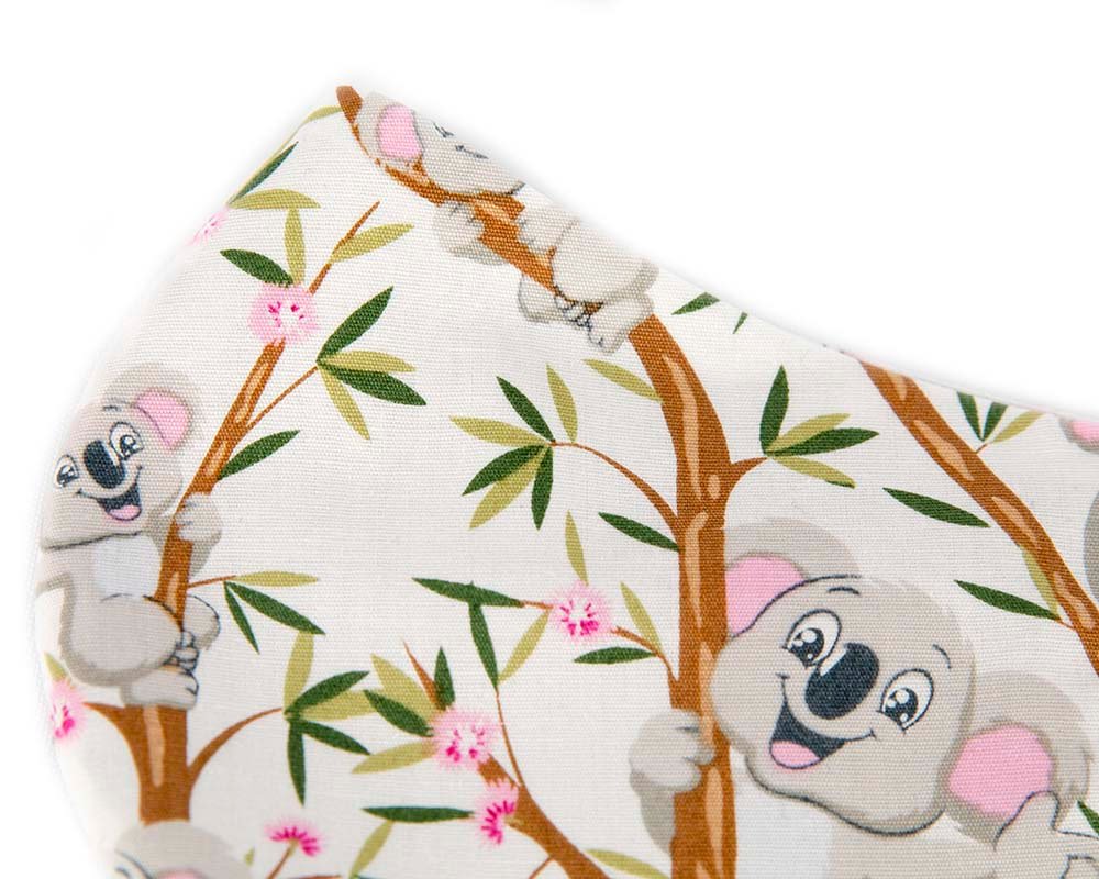 Comfortable re-usable cotton face mask Koala print