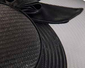 Bespoke black wide brim boater hat