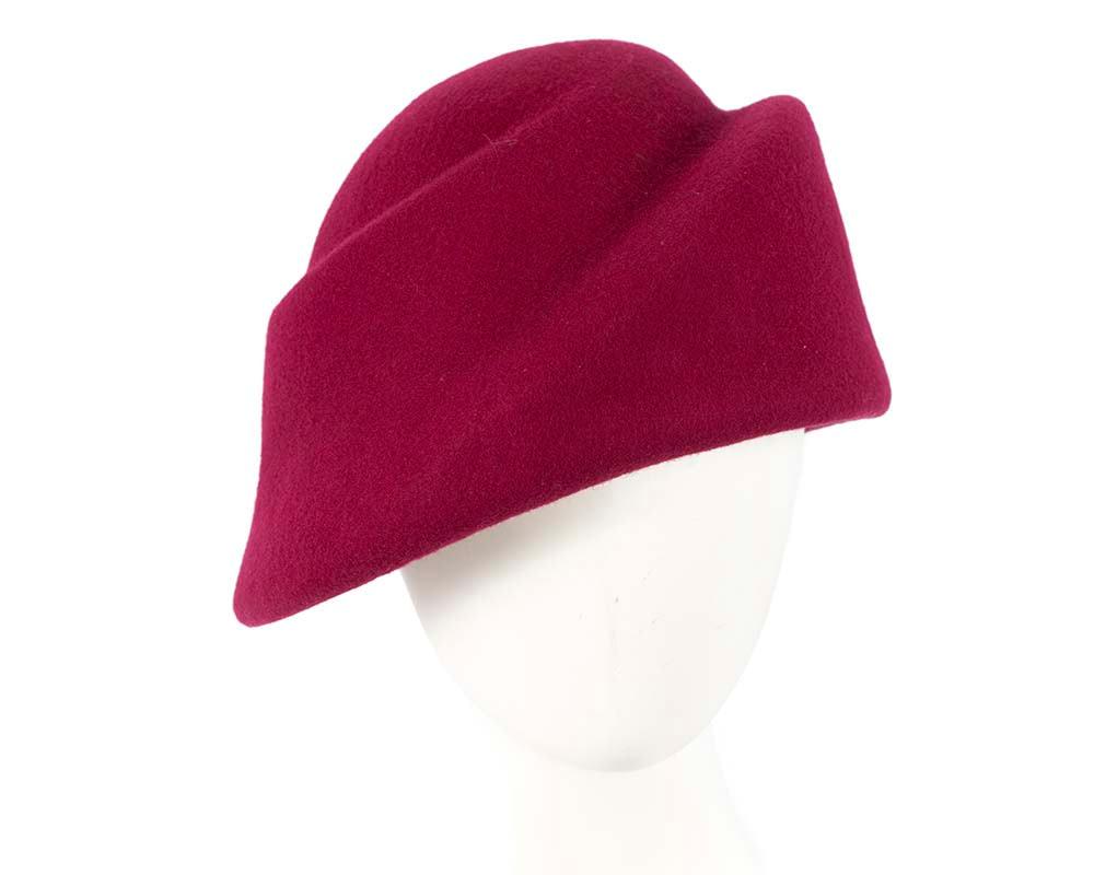 Unique fuchsia ladies winter felt fashion hat
