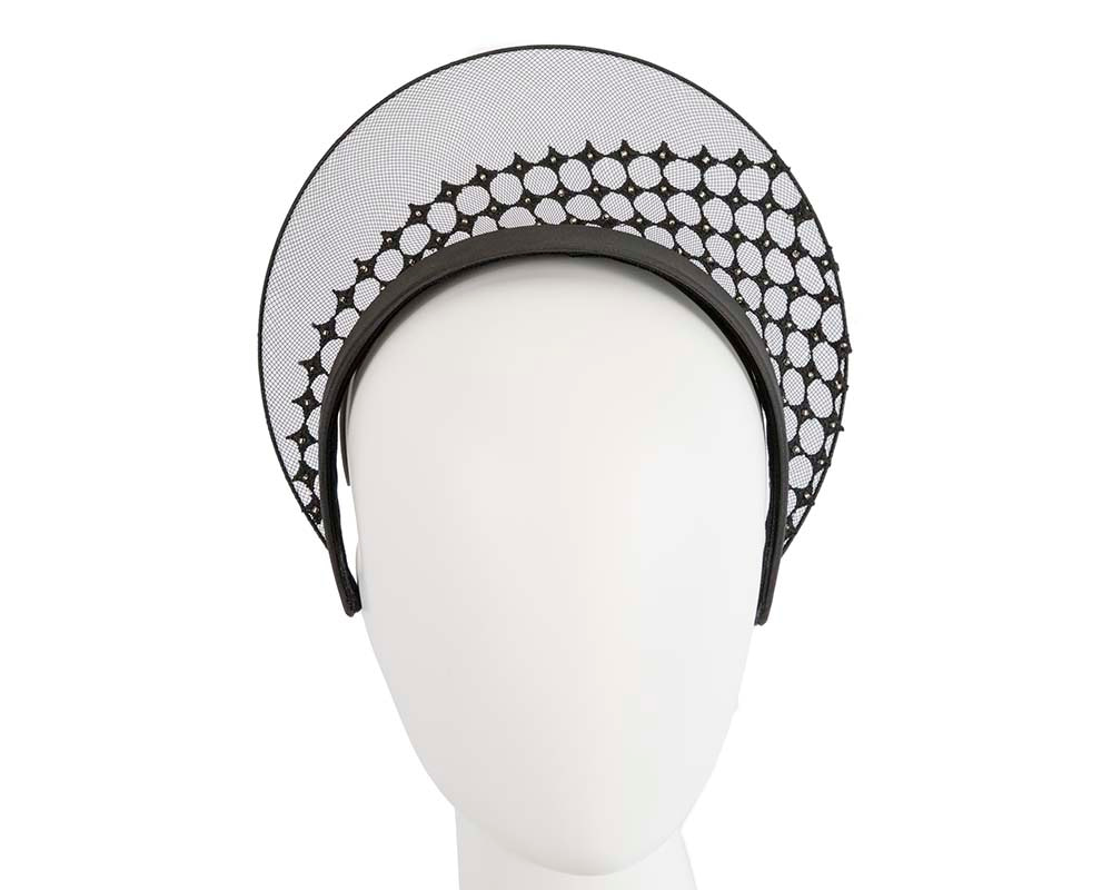 Limited edition black crown fascinator