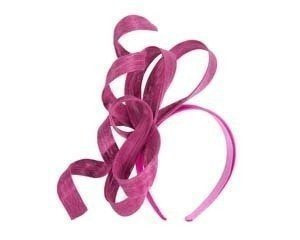 Exclusive fuchsia fascinator by Fillies Collection
