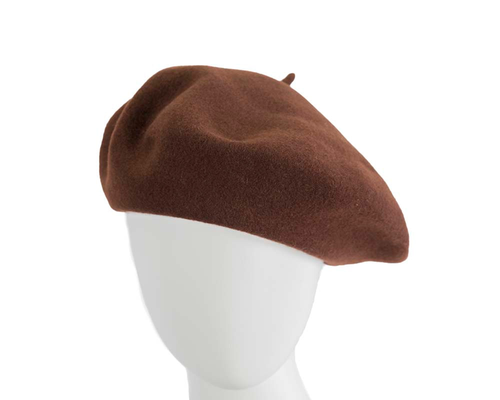 Brown wool WOOLMARK french beret