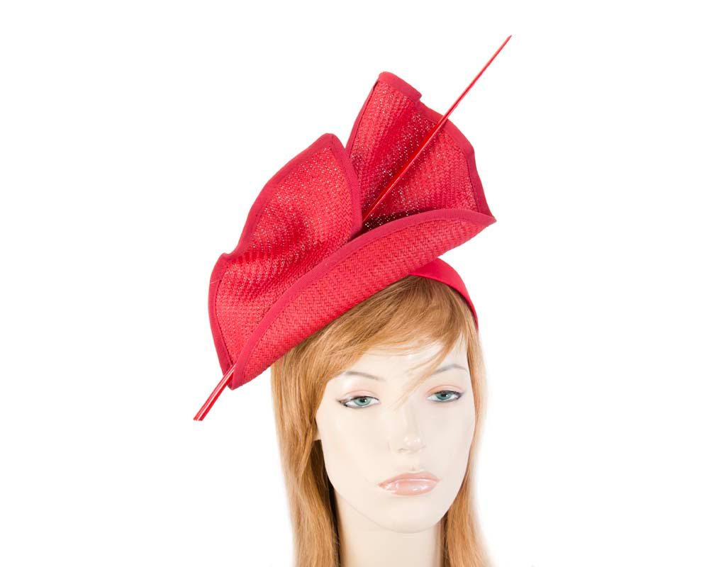 Bright red Max Alexander racing fascinator made in Australia MA686R