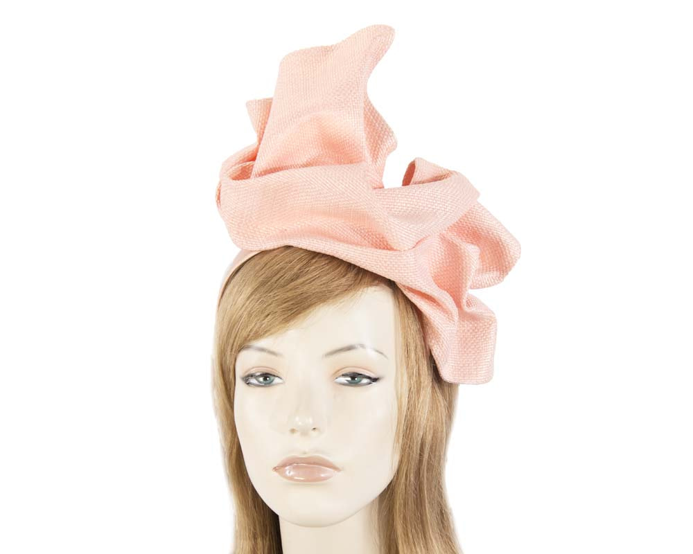 Light Peach tailored fascinator
