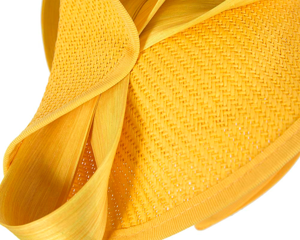 Large yellow Fillies Collection racing fascinator with bow