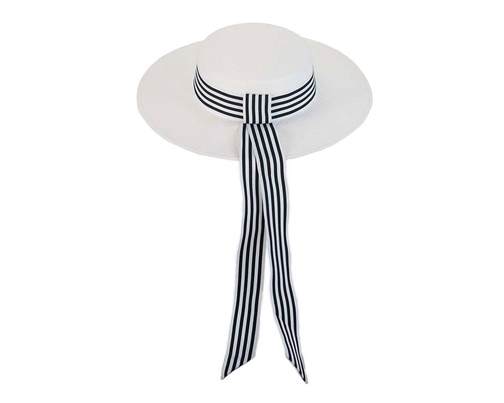 White boater hat by Max Alexander