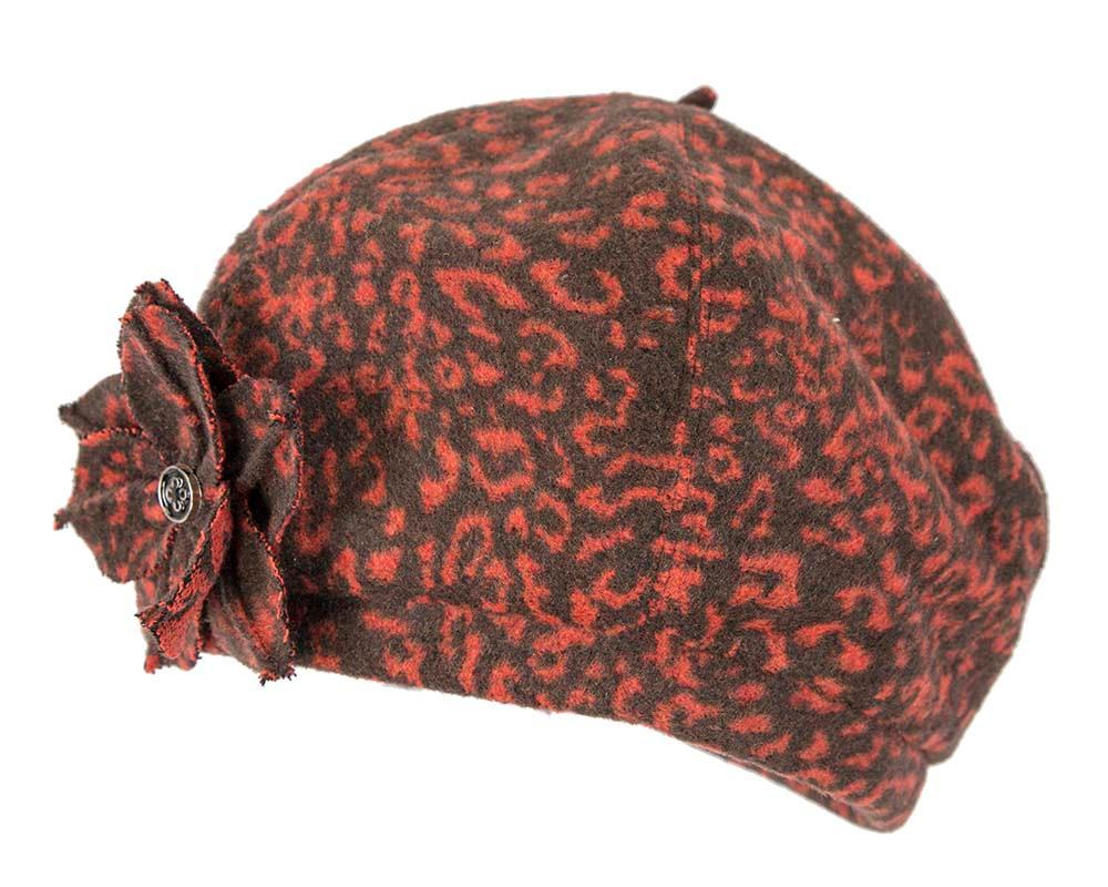 Rust winter ladies fashion beret hat Max Alexander J253R