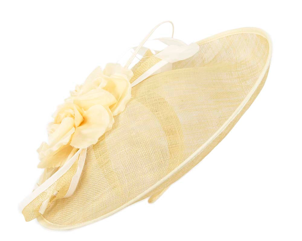 Yellow racing fascinator by Cupids Millinery
