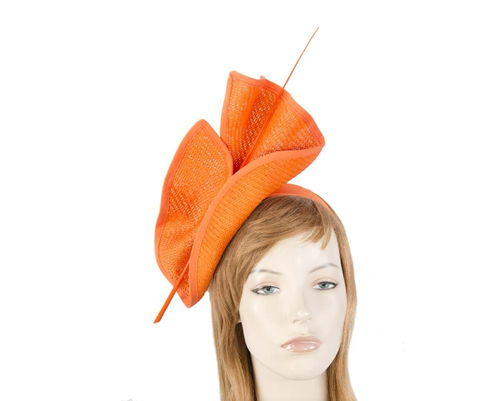 Orange Max Alexander racing fascinator made in Australia