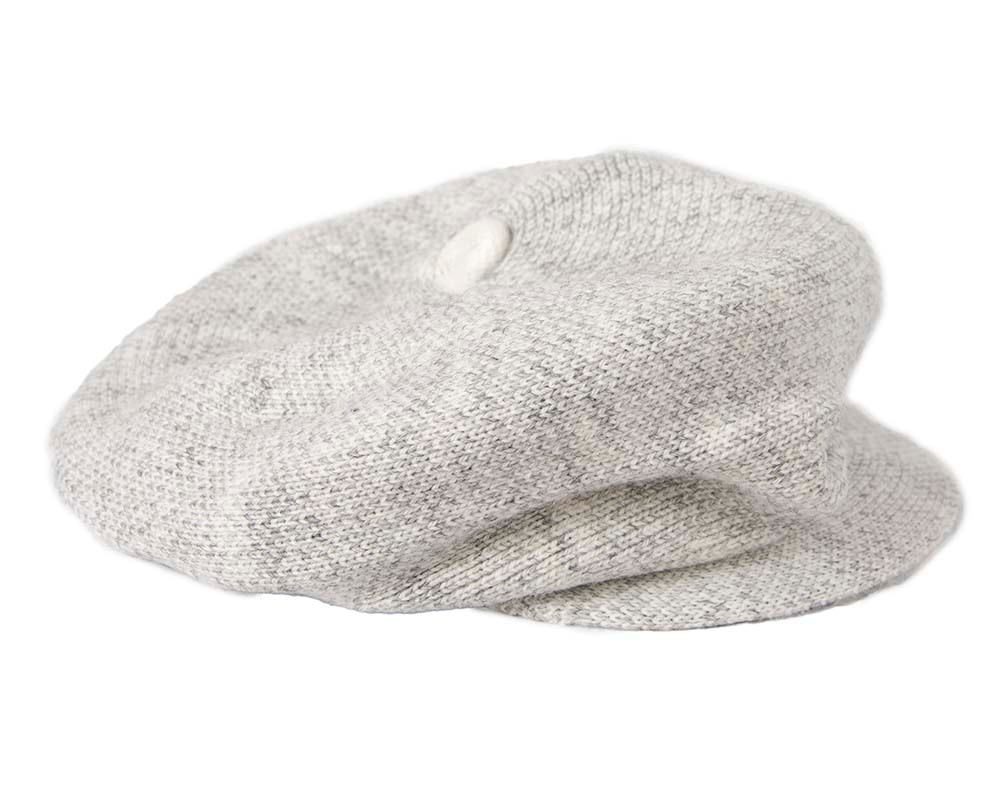 Classic wool woven light grey cap by Max Alexander