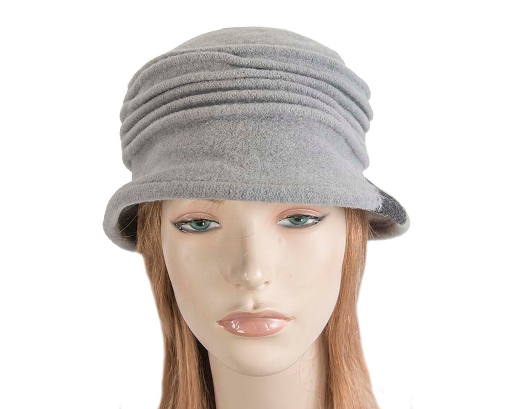Soft grey winter bucket hat by Max Alexander