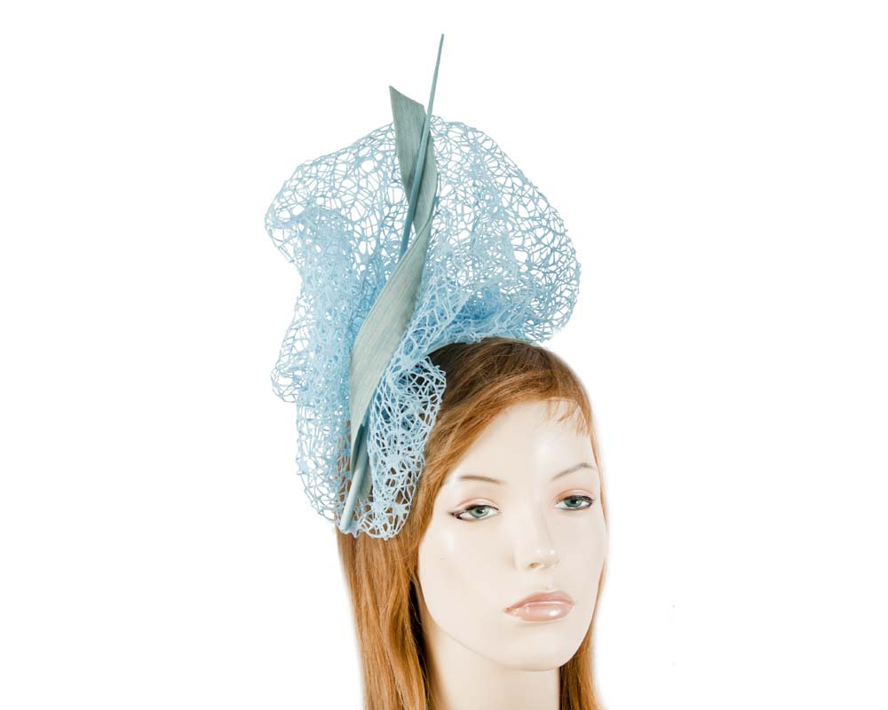 Bespoke light blue lace fascinator