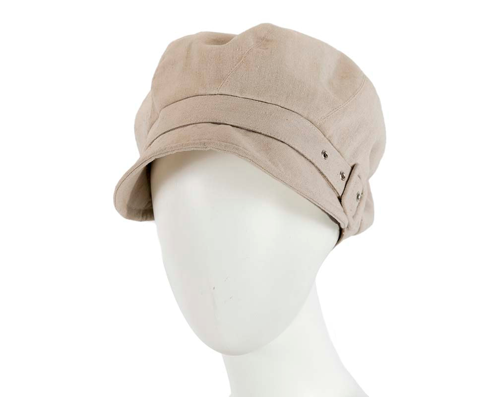 Beige ladies casual newsboy cap hat