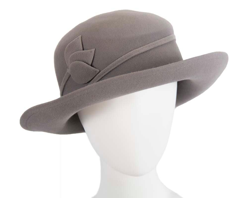 Exclusive rabbit fur grey hat Made in Europe