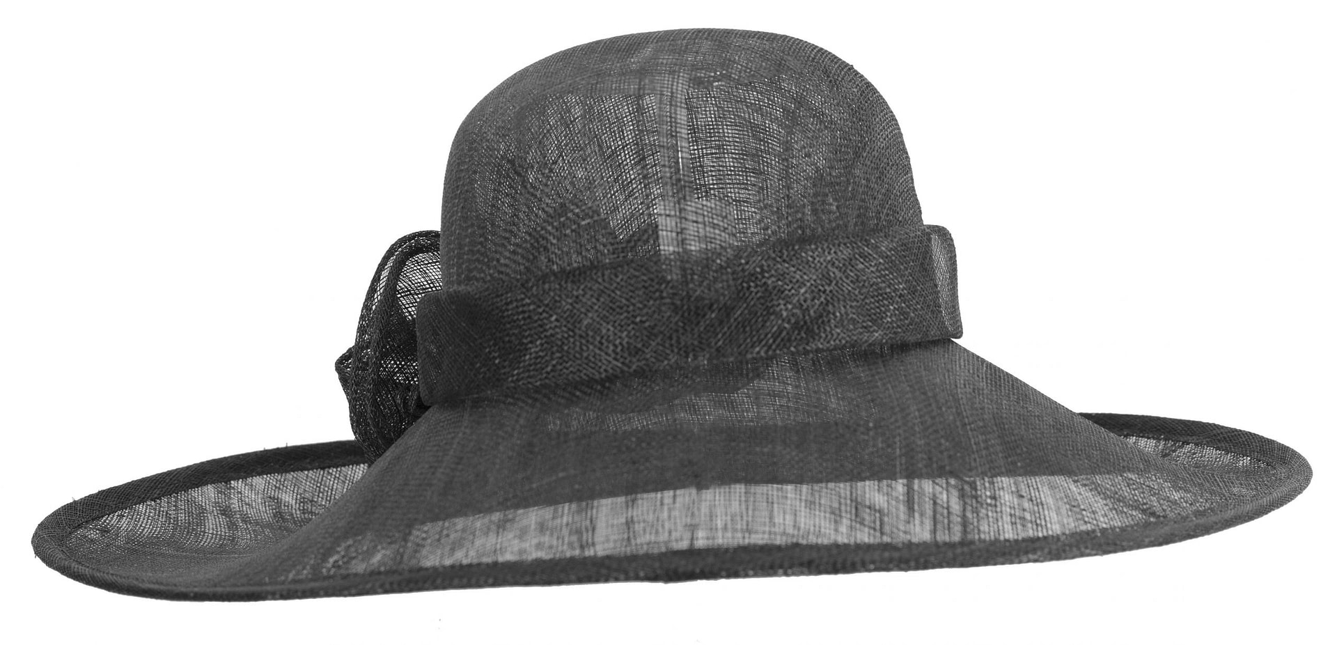 Large black racing hat by Max Alexander