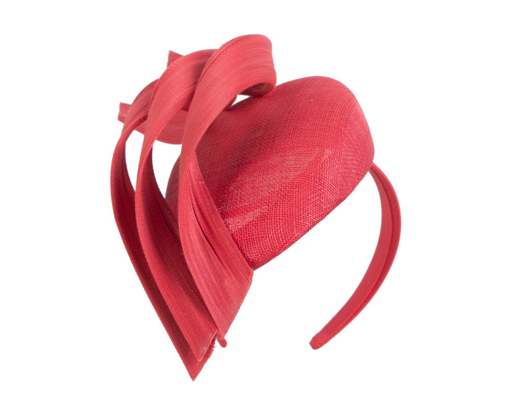 Bespoke red pillbox fascinator by Fillies Collection