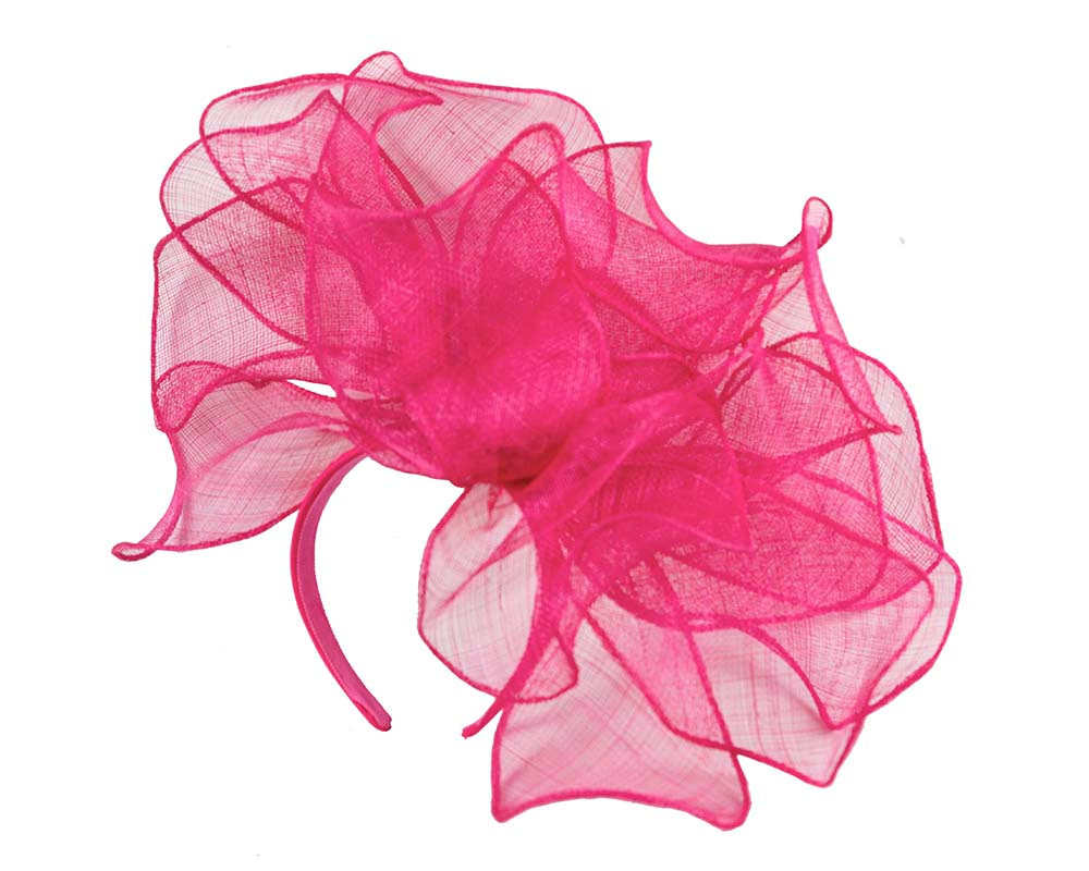 Large fuchsia racing fascinator for Melbourne Cup Derby buy online in Australia MA630F