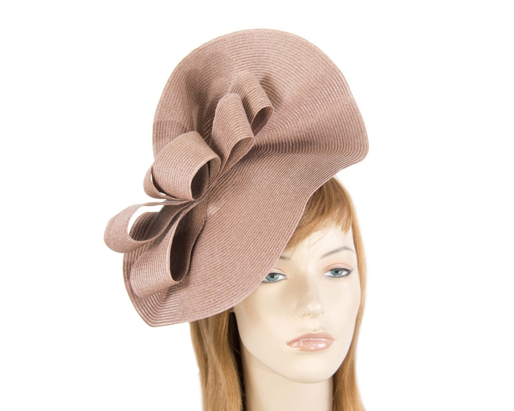 Large taupe spring racing fascinator by Max Alexander