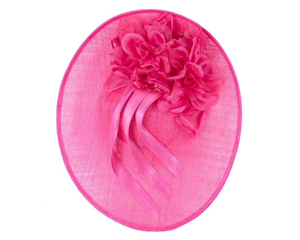 Large fuchsia plate racing fascinator by Fillies Collection