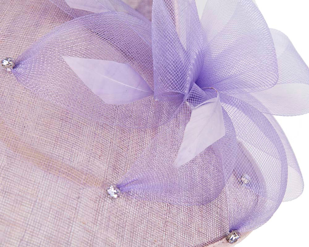 Exclusive lilac fascinator by Cupids Millinery Melbourne