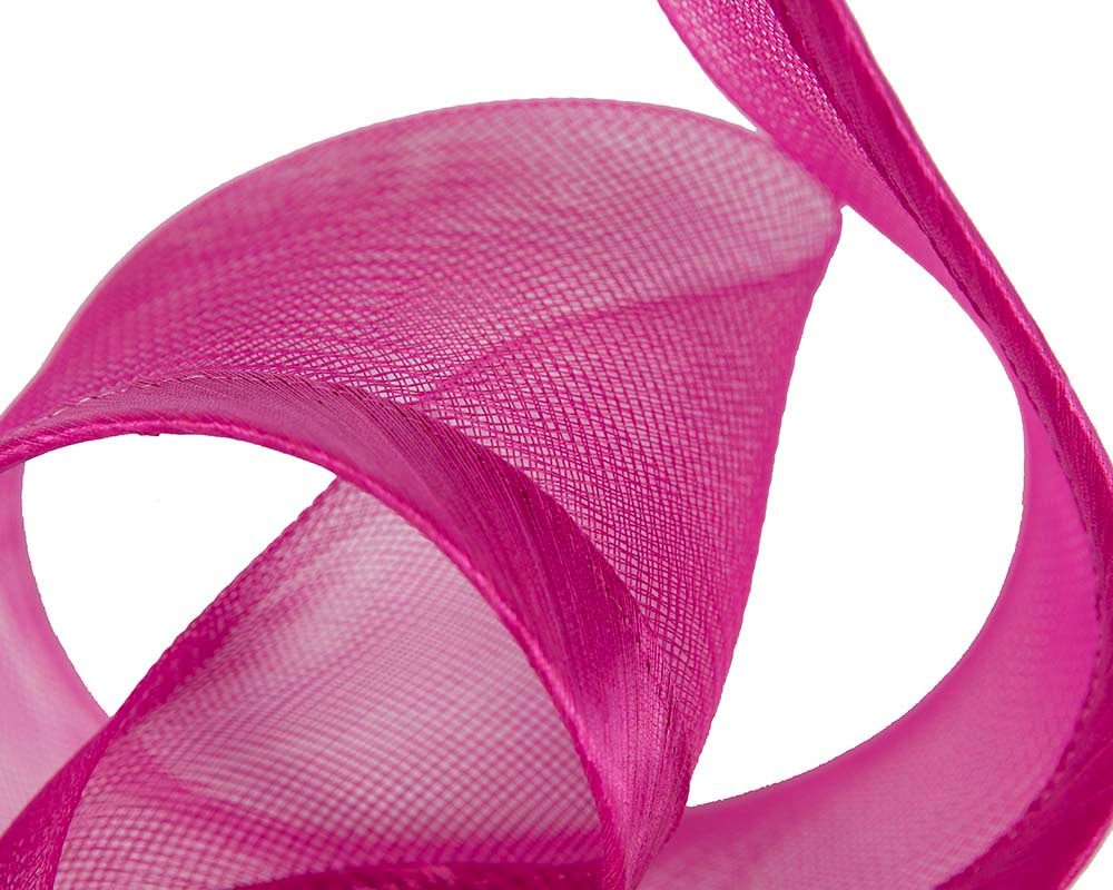 Sculptured fuchsia racing fascinator by Fillies Collection