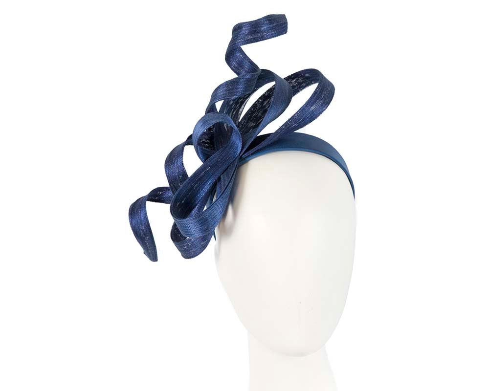 Exclusive navy fascinator by Fillies Collection