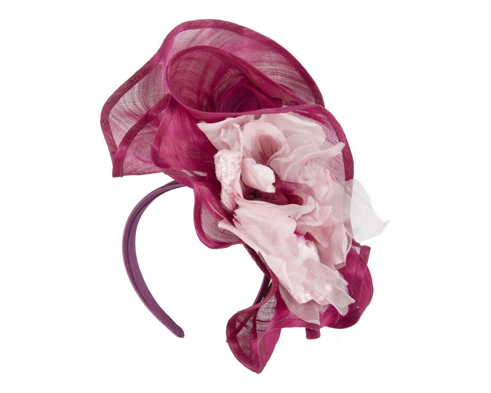 Bespoke large magenta fascinator
