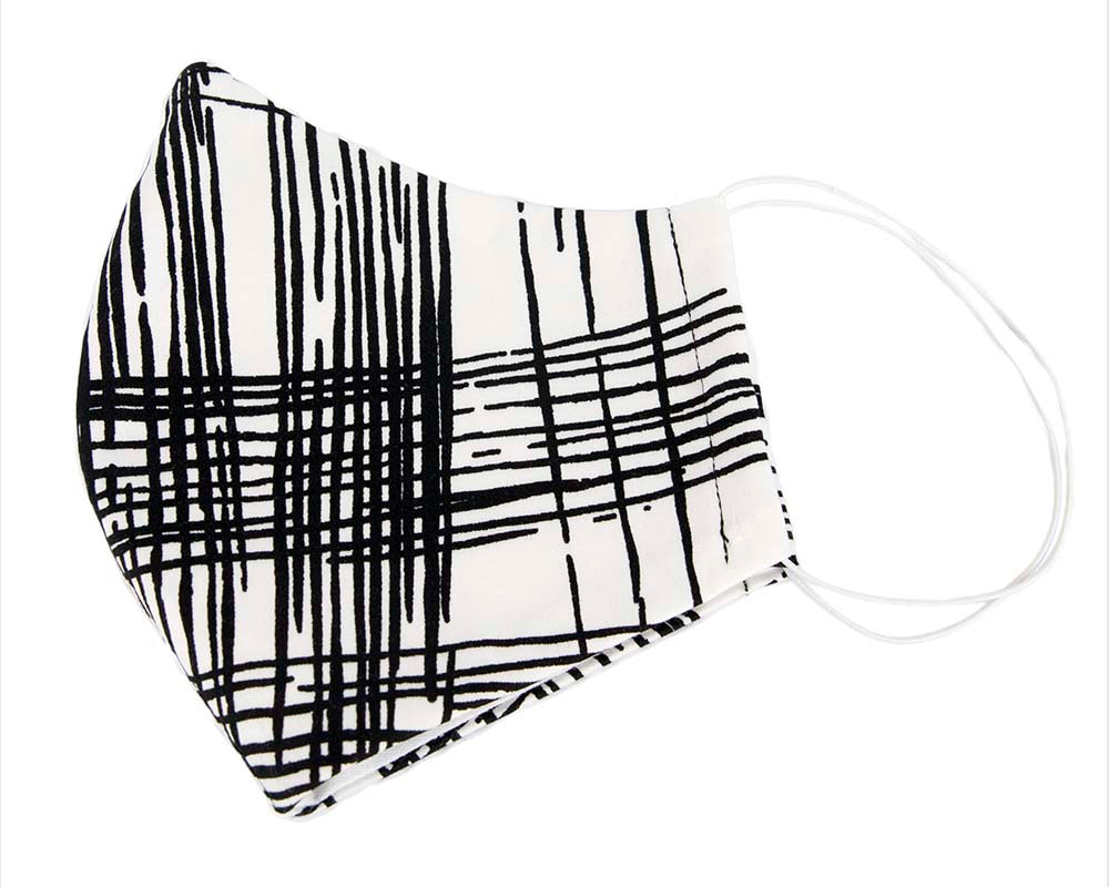 Comfortable re-usable white & black face mask