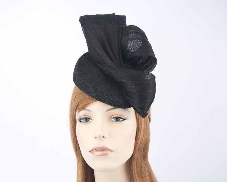 Black pillbox fascinator for Melbourne Cup races by Fillies Collection