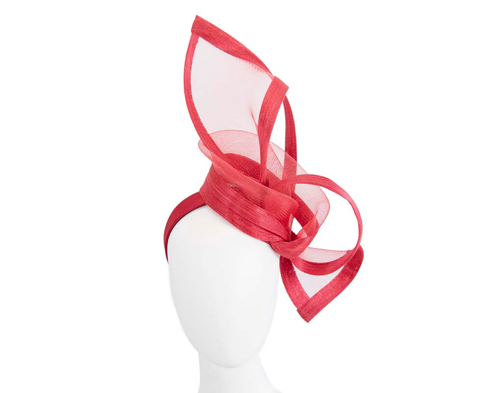 Red fascinator for Melbourne Cup Ascot Kentucky Derby buy online S107R