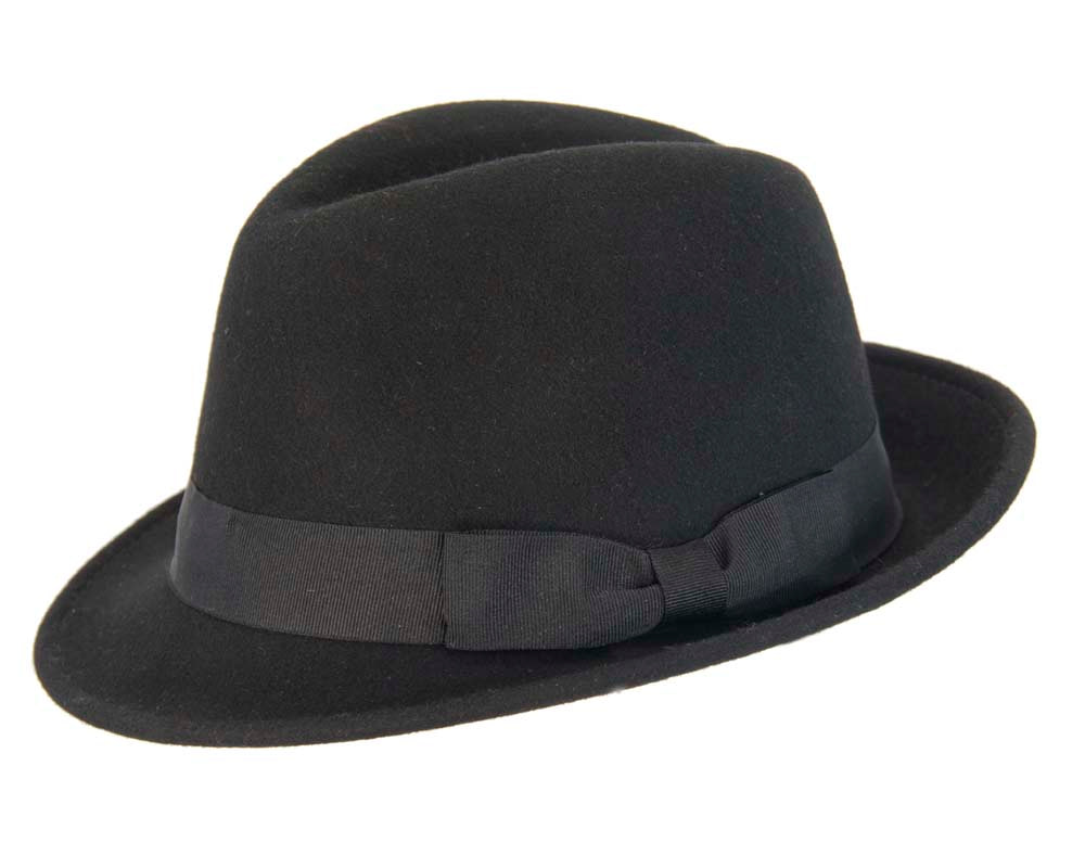 Black Fedora Felt Blues Brothers Homburg Hat