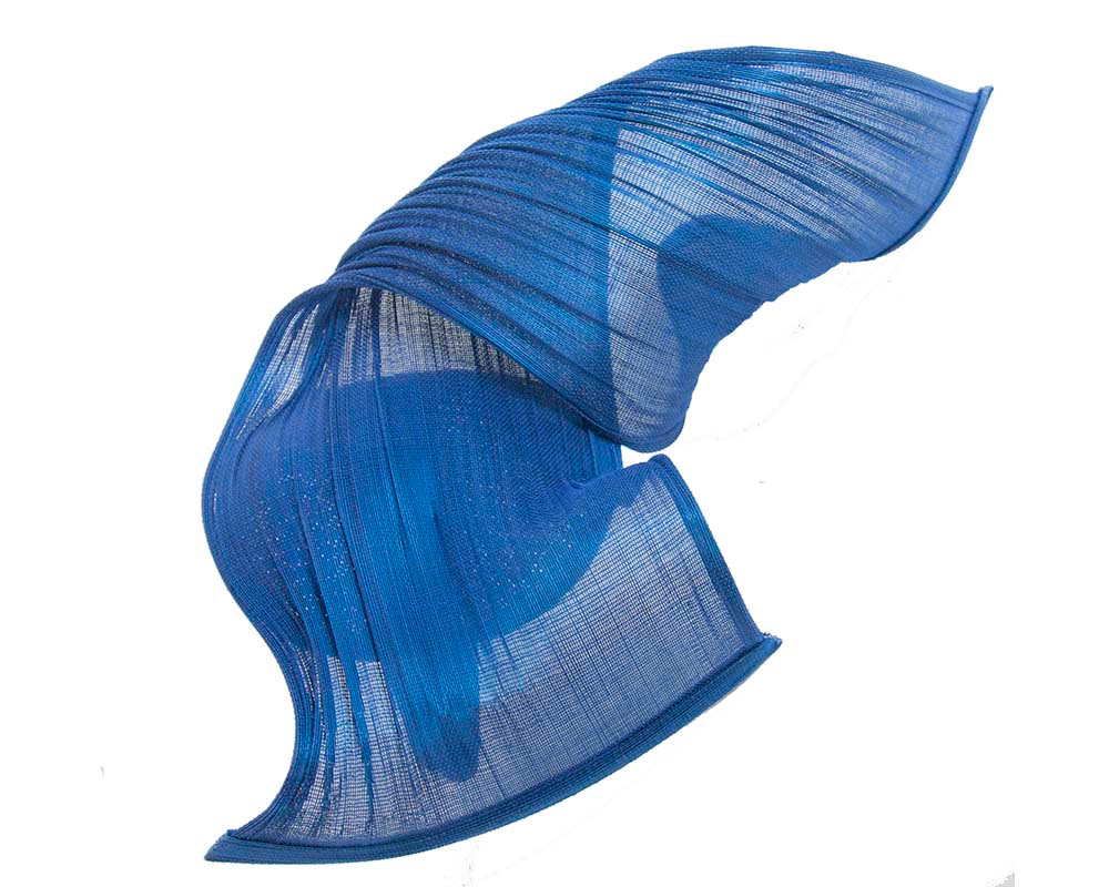 Large royal blue bespoke Jinsin racing fascinator by Fillies Collection