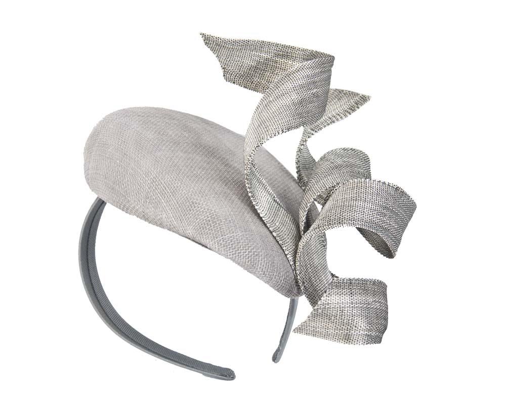 Silver designers fascinator