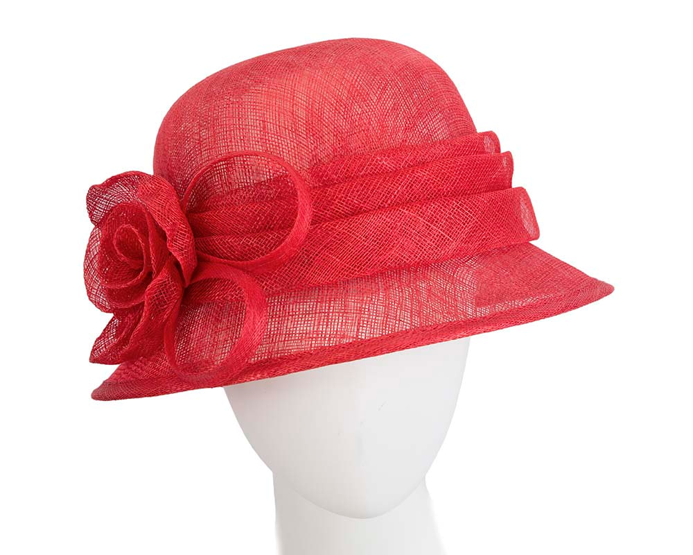 Red Ladies Bucket Racing Hat for Ascot