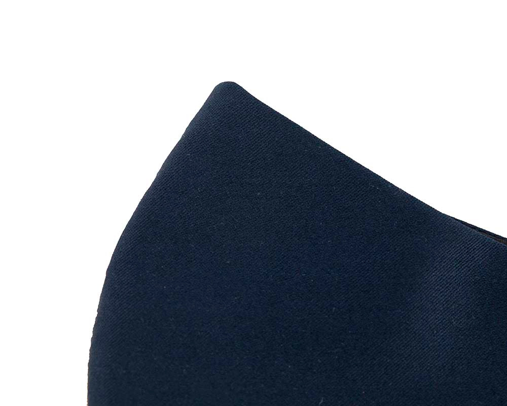 Comfortable re-usable navy sateen face mask
