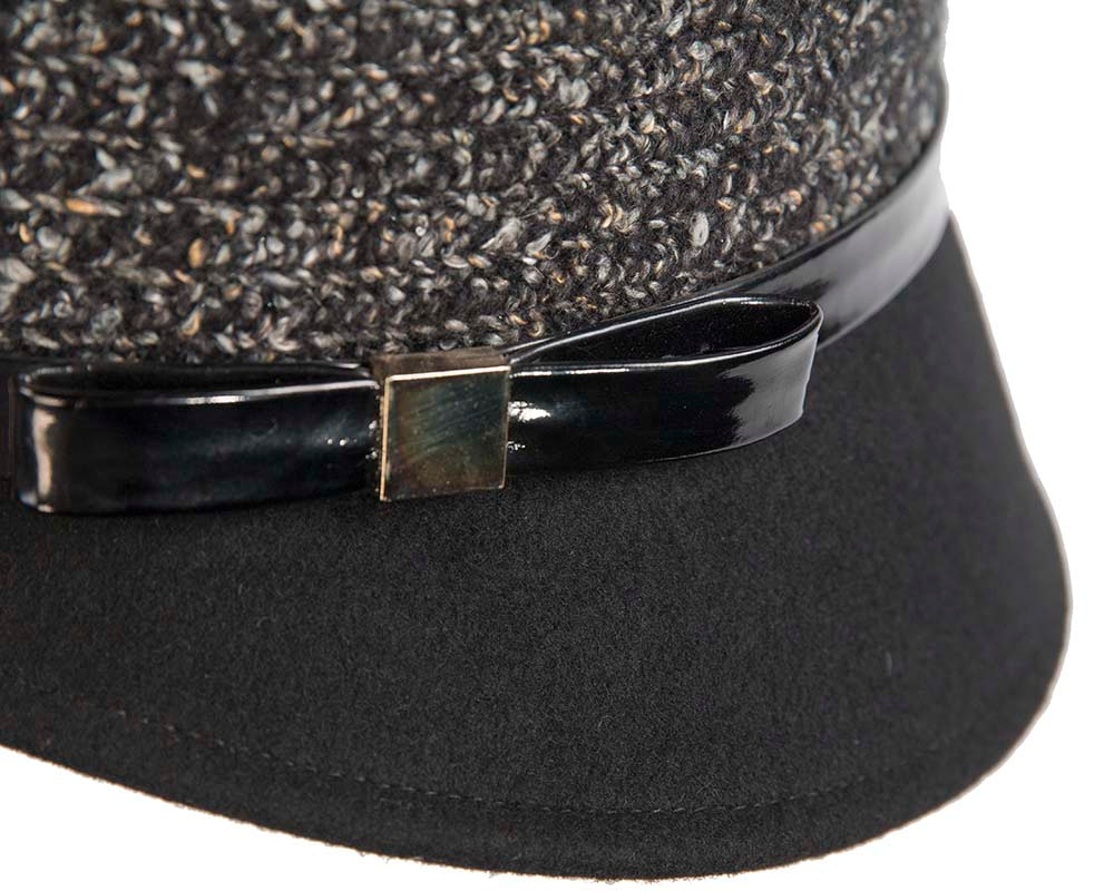 Two tone black & grey bucket hat by Cupids Millinery
