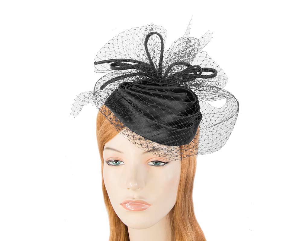 Black Cocktail Headpiece with veil