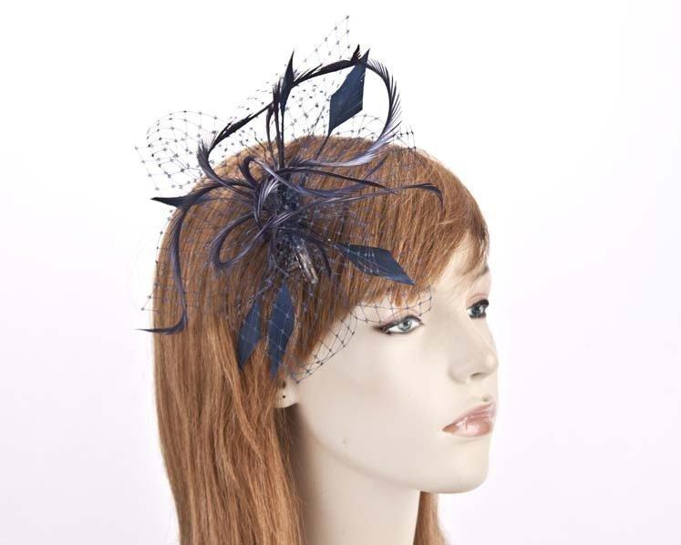 Navy fascinator headpiece