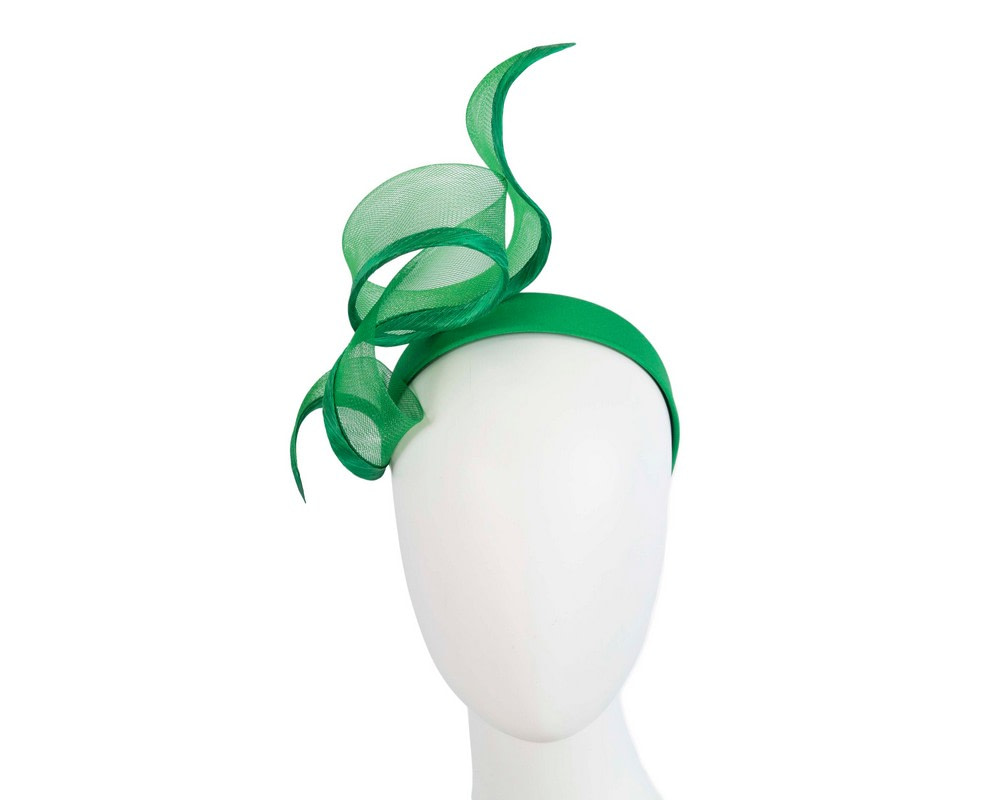 Sculptured green racing fascinator by Fillies Collection