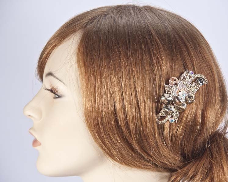 Bridal antique gold hair comb headpiece buy online in Australia BR06