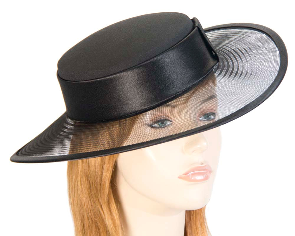 Black designers boater hat