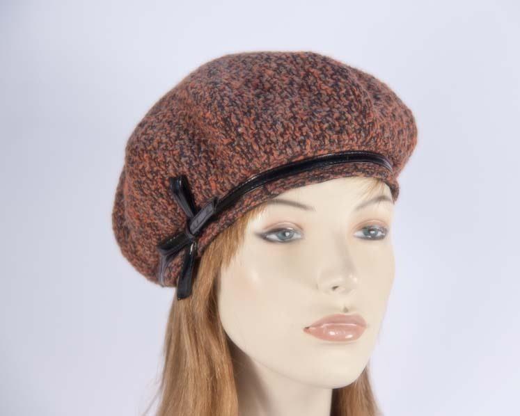 Rust winter ladies fashion beret hat Max Alexander J250R