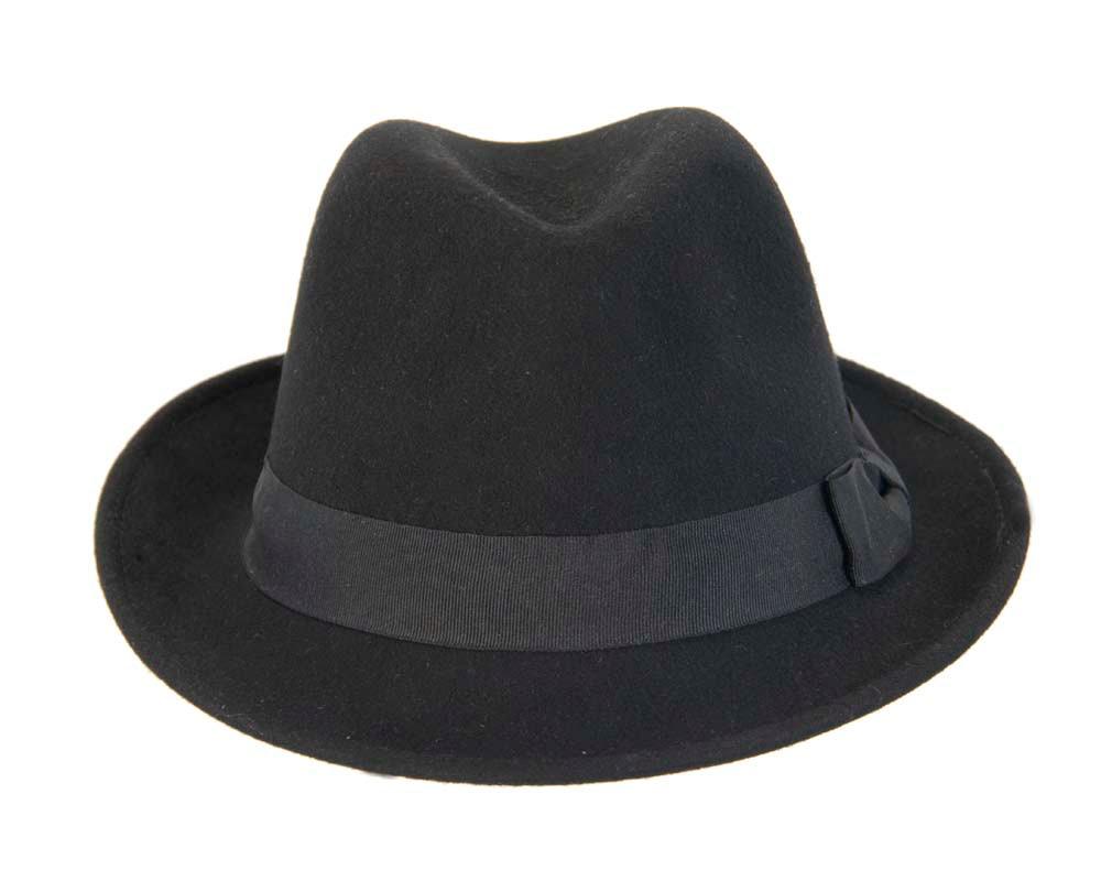 Black Fedora Felt Blues Brothers Homburg Hat