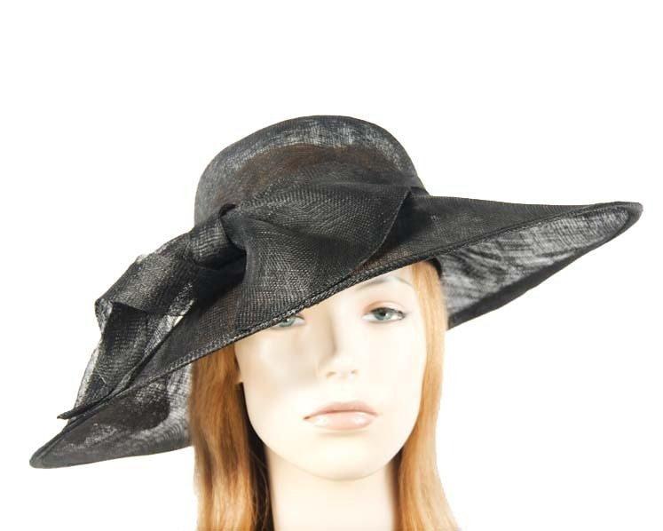 Large black racing hat