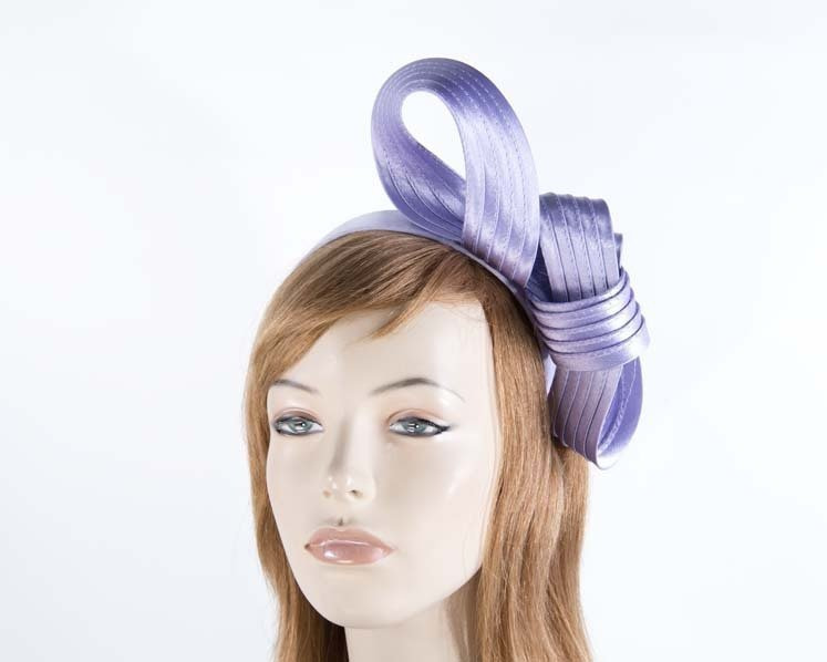 Curled lilac fascinator